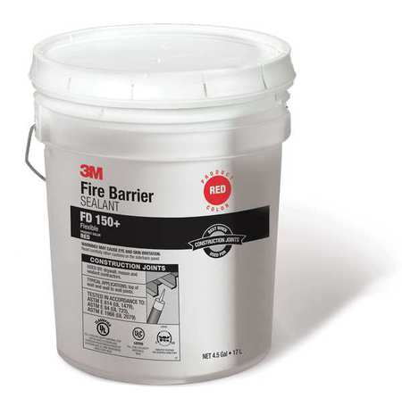 Fire Barrier Sealant,4.5 gal.,Red 3M FD 150+ Red
