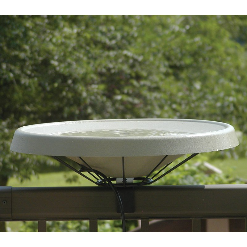 Birds Choice Heated Birdbath Deck Mount by Backyard Nature Products Inc
