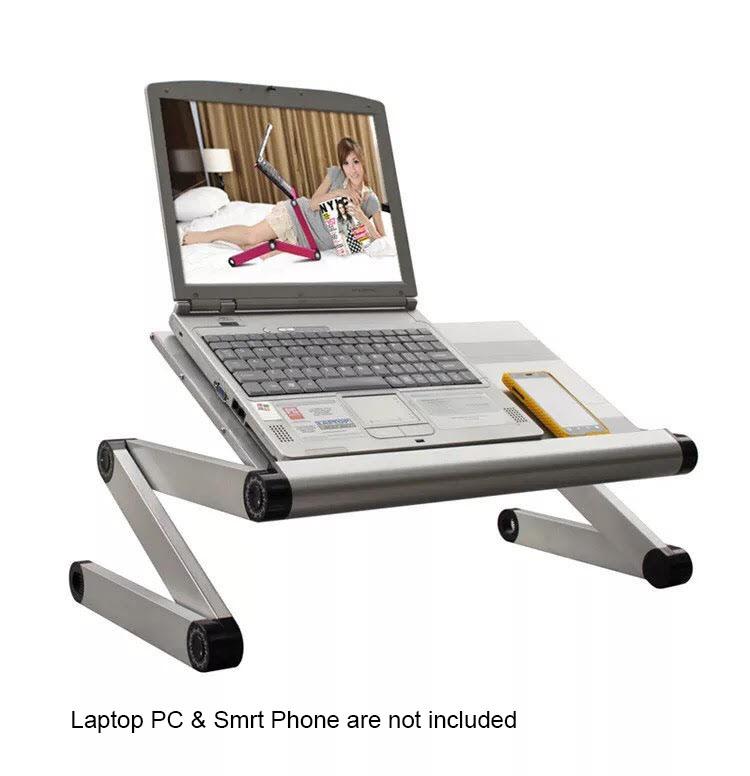 Laptop Stand Desk Table Bed Tray Adjustable Folding Riser for Tablet TV Dinner