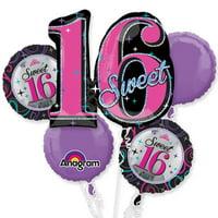 Sweet 16 Pink Theme Foil Balloon Bouquet