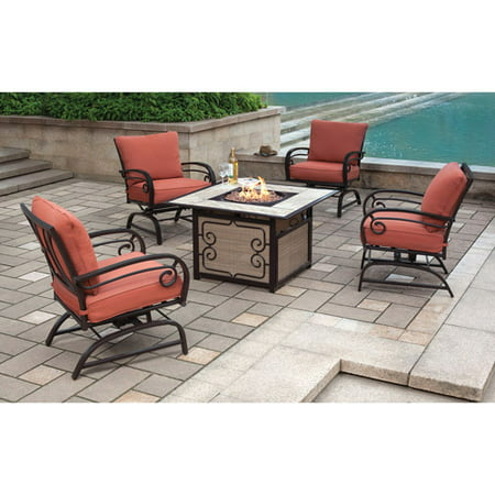 Better Homes And Gardens Sycamore Place 5 Piece Patio Conversation Set With Fire Pit