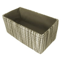 Wald Import Gray Tweed Double Collapsible Storage Bin
