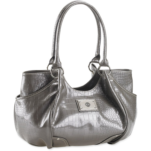 George - Women's Patent Croco Studs 4 Poster Bag
