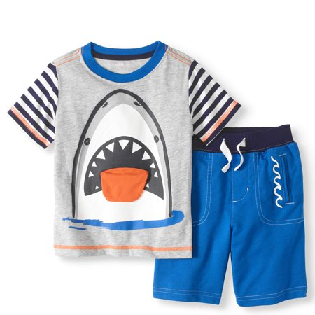 Toddler Boy 3D Interactive T-Shirt & Knit Shorts, 2pc Outfit Set