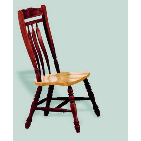 Aspen Dining Chair in Nutmeg Light Oak Finish - Set of 2