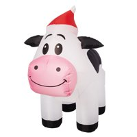 Holiday Time Yard Inflatables Spotted Cow, 3 ft