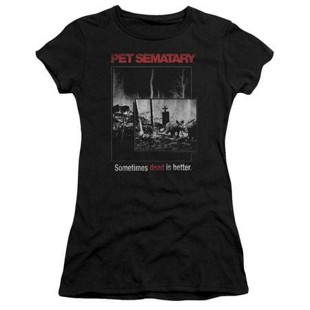 Trevco PET SEMETARY CAT POSTER Black Juniors Female T-Shirt](Teen Cat)