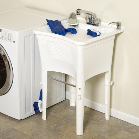 Freestanding Laundry Tub : Zenith Products Free-Standing Laundry Tub, 24