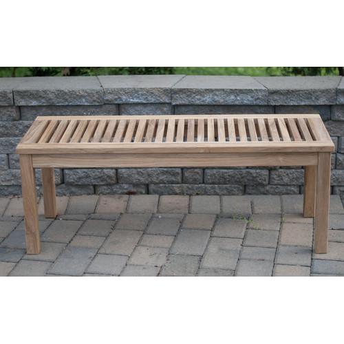 Arbora Teak Calcutta Backless Solid Teak Picnic Bench