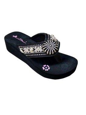 6fc66113dee3 Product Image Montana West Floral Daisy Concho Aztec Western Flip Flop  Sandals Shoes Black