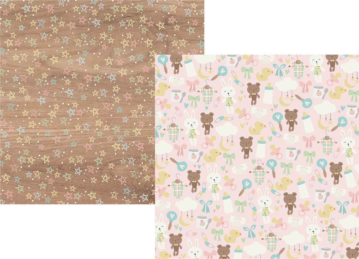 Oh Baby Double Sided Cardstock 12x12 Heaven Sent