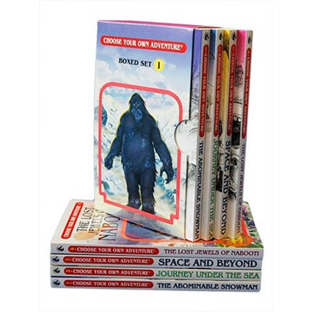 Choose Your Own Adventure 4-Book Set, Volume 1 : The Abominable Snowman/Journey Under the Sea/Space and Beyond/The Lost Jewels of (Make Your Own Choose Your Own Adventure Story)