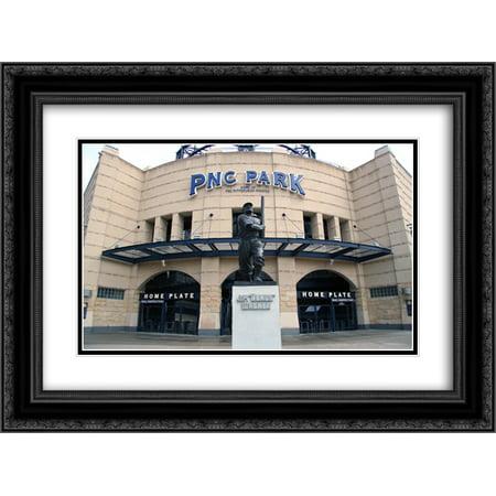 PNC Park 2x Matted 24x20 Black Ornate Framed Art Print from the Stadium (Pnc Park Framed)
