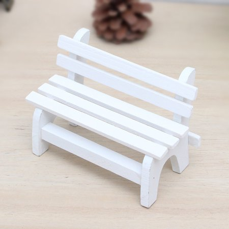 Home Decor Furnishing Articles Mini Bench Wooden Craft Ornaments Photo Props ()
