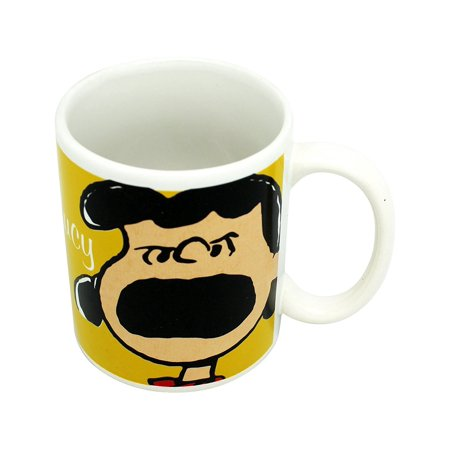 Peanuts 60th Anniversary Yellow/White Lucy Ceramic Coffee Mug](Lucy Dress Peanuts)