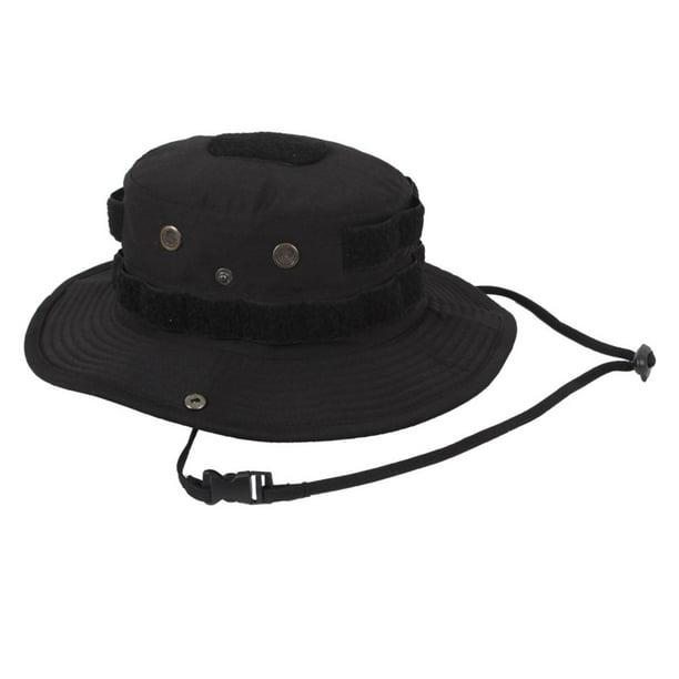 Tactical Ripstop Boonie Hat mit Innentasche Special Force Breite Krempe mit Kopfbedeckungen Bucket Hat f/ür Outdoor Tabletop Jagd Angeln Schutz mit verstellbarem Kopfb/ügel