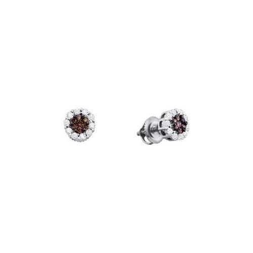 Gold and Diamond 53953 0. 50Ctw Diamond Ladies Flower Earring - 14KWG
