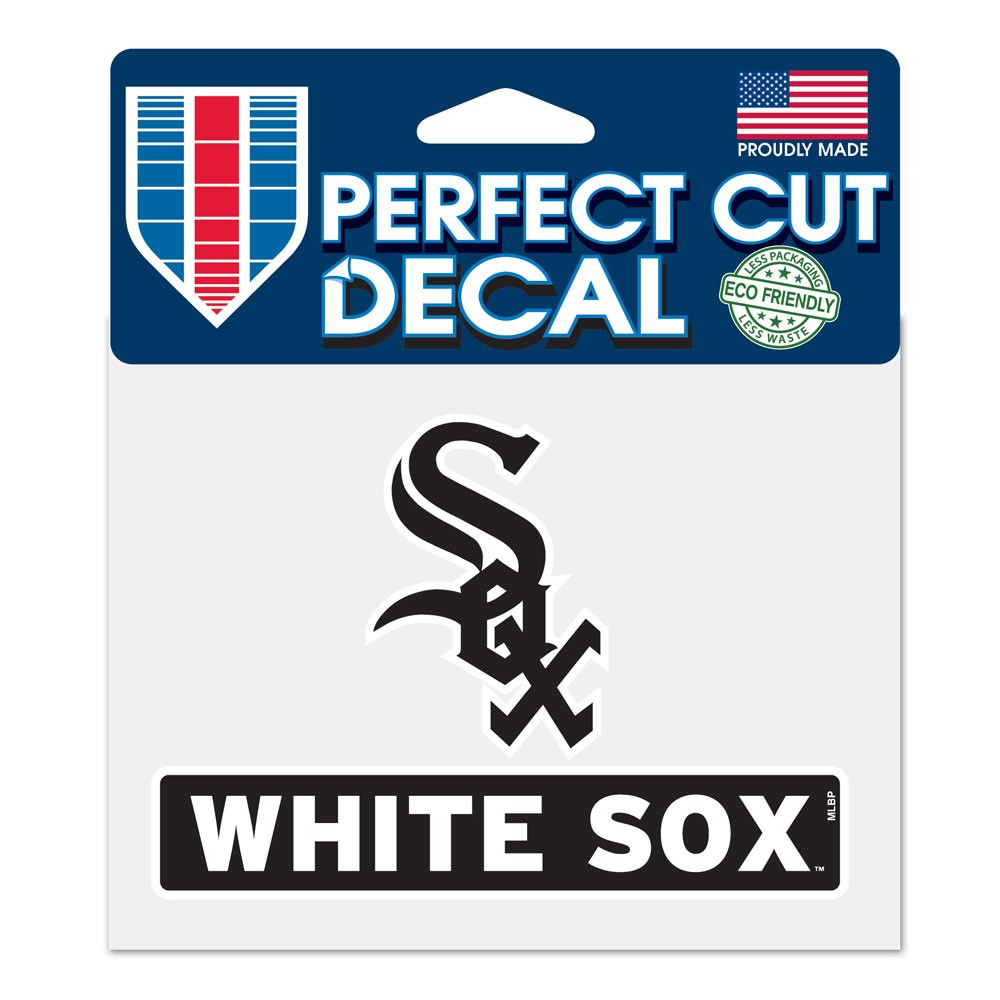 "Chicago White Sox WinCraft 4"" x 5"" Perfect Cut Logo Slogan Decal - No Size"