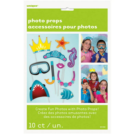Under The Sea Photo Booth Props, 10 Piece - Under The Sea Quinceanera Ideas