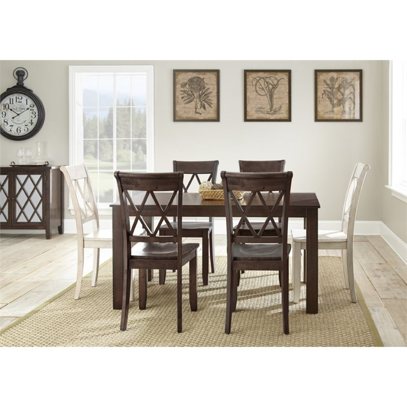 Steve Silver Aida Dining Table in Brown by Steve Silver Company