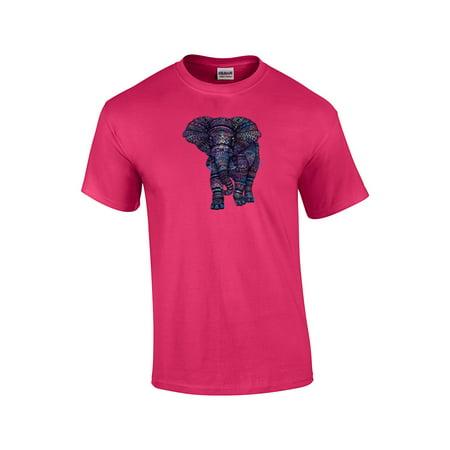 3c01935510e67b Trenz Shirt Company - Elephant With Colorful Aztec Design T-Shirt -  Walmart.com