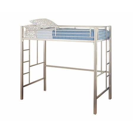 Your Zone metal loft twin bed, Multiple Colors with Mainstays Twin Mattress