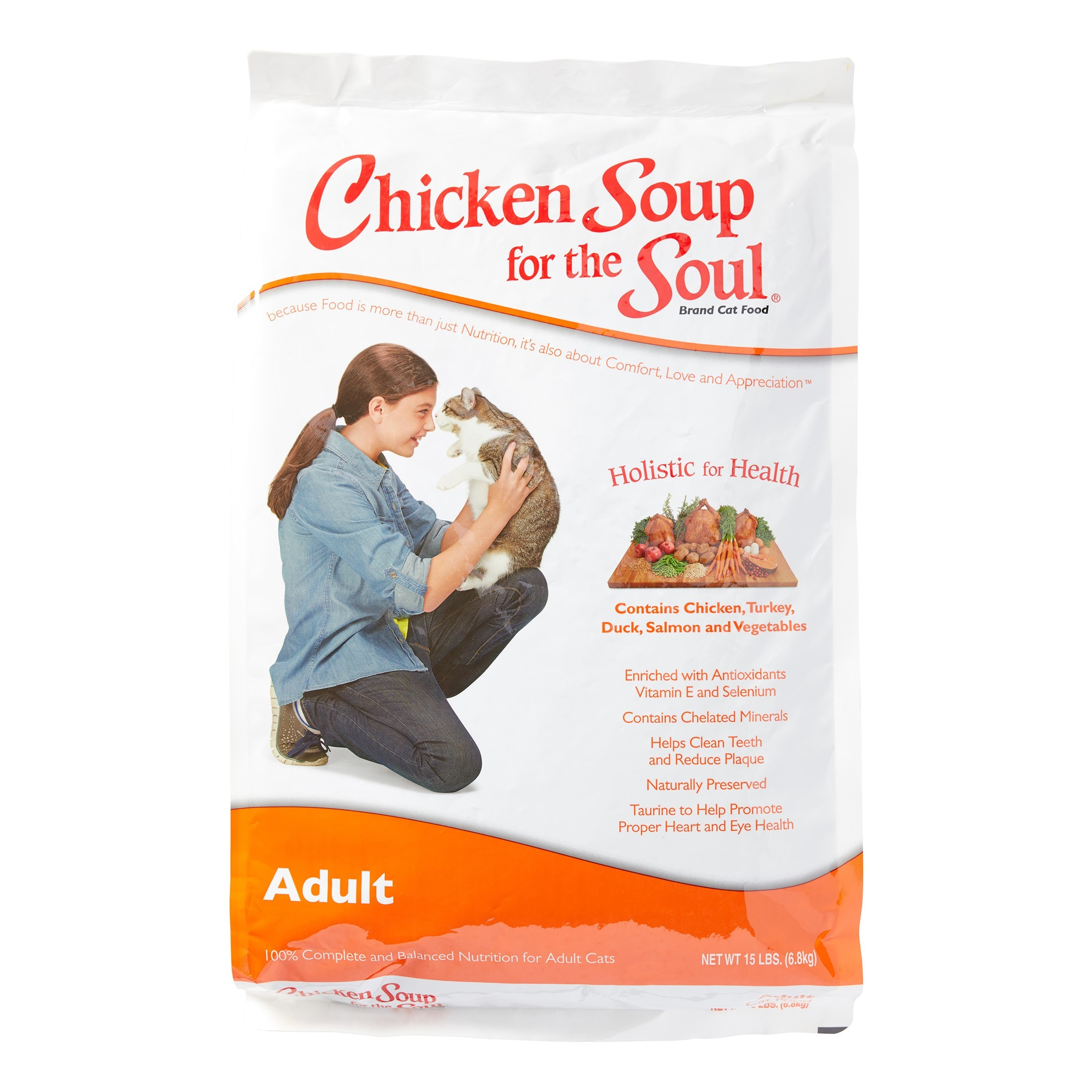 Click here to buy Chicken Soup For The Soul Adult Recipe Dry Cat Food, 15 lb by Diamond Pet Foods.