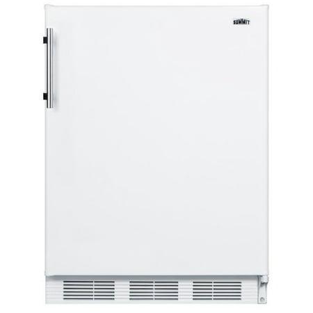 Summit CT661ADA 24in Wide 5.1 Cu. Ft. Freestanding ADA Compliant Refrigerator with Zero Degree Freezer