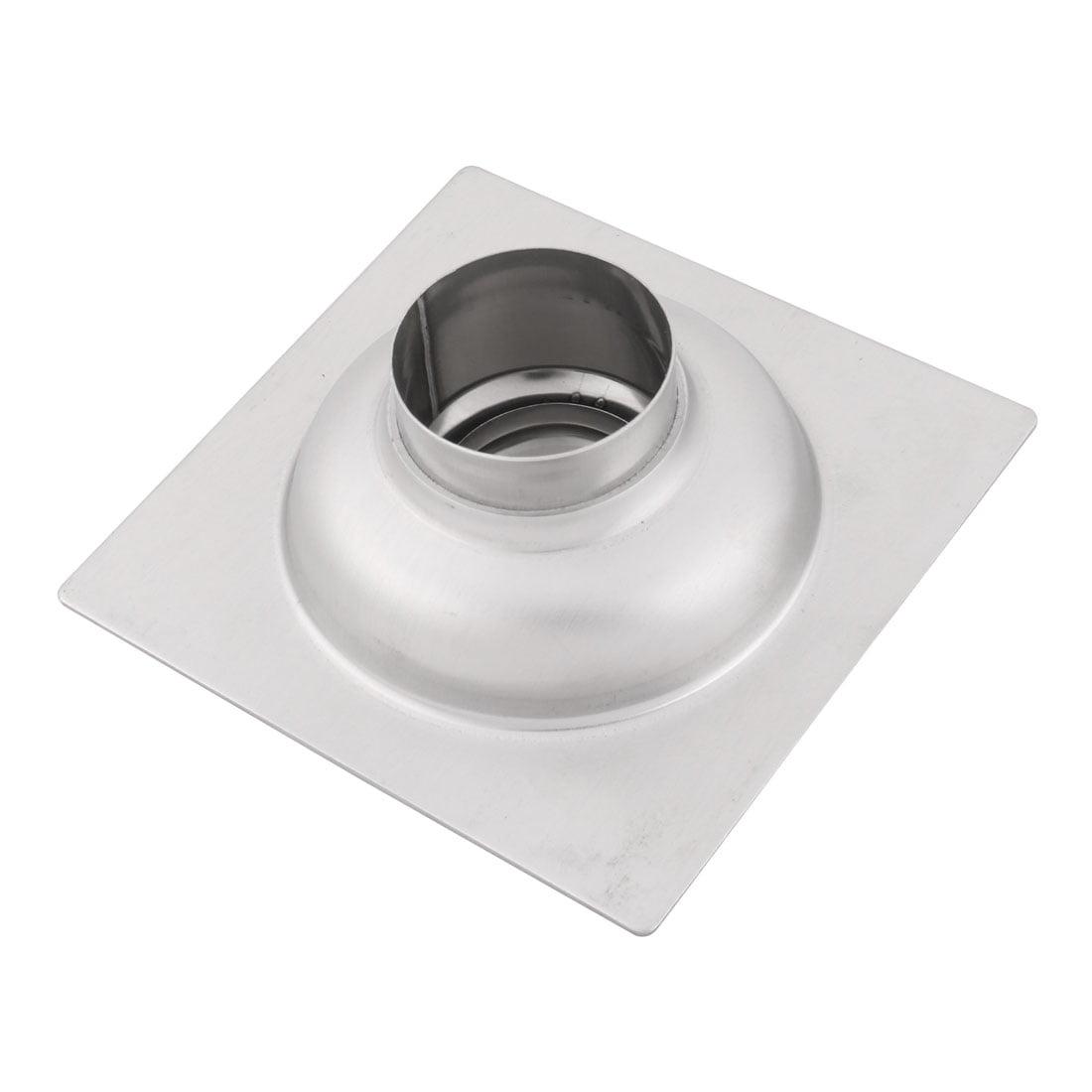 Household Stainless Steel Square Floor Drain Cover Lid Strainer Hair Stopper - image 4 de 5