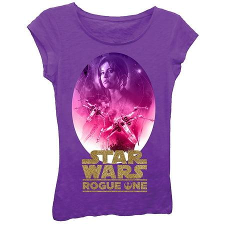Star Wars Girls' Rogue One T-Shirt](Girl Star Wars Characters)