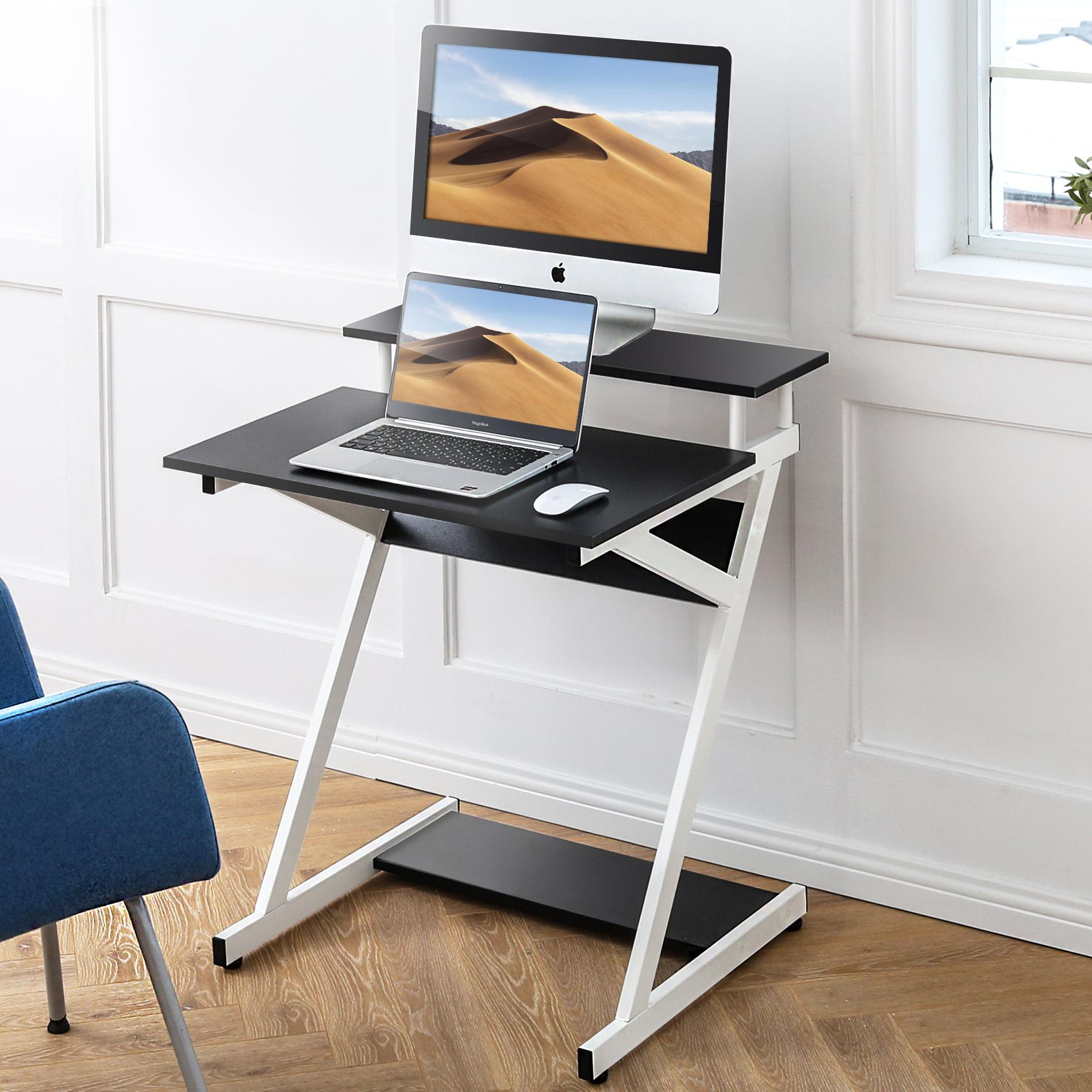 Fitueyes Computer Desk For Small Spaces Corner Desk Study Writing Desk With Shelf Cd307002ww Walmart Com Walmart Com