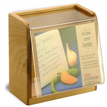 Maple Recipe Box - Maple Recipe Box - Holds 350 4x6 Inch Cards - Made in the USA
