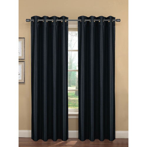 "Becca Faux Silk Room Darkening Extra-Wide 54"" x 84"" Grommet Curtain Panel"