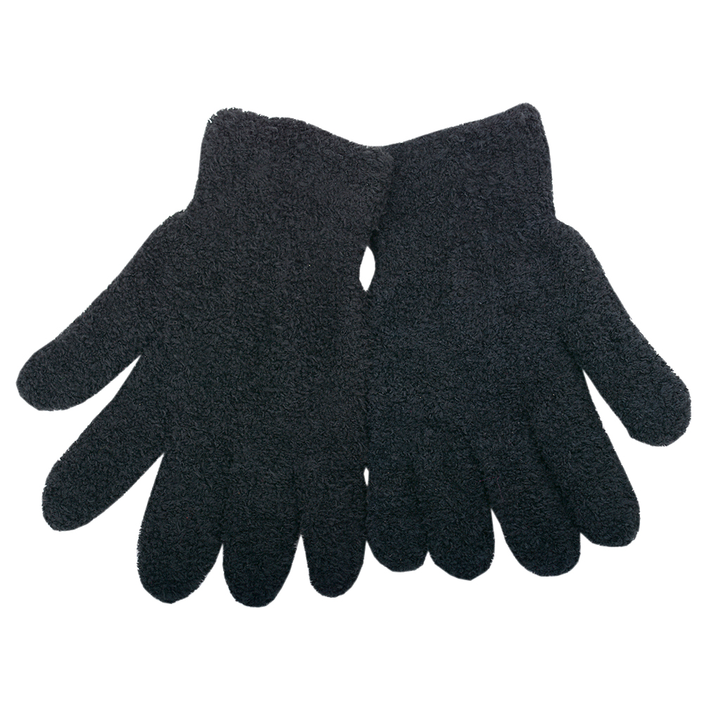 Gold Medal Women Black Solid Color Butter Gloves