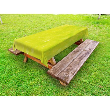 - Lime Green Outdoor Tablecloth, Grunge Hazy Color Background with Scattered Blurry Shade Effects Mystic Print, Decorative Washable Fabric Picnic Table Cloth, 58 X 84 Inches,Apple Green, by Ambesonne