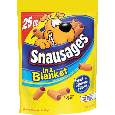 Snausages In a Blanket Beef & Cheese Flavored Dog Snack, 25-Ounce
