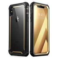 iPhone XS Max Case, i-Blason [Ares] Full-body Rugged Clear Bumper Case with Built-in Screen Protector for iPhone XS Max Case (2018 Release)