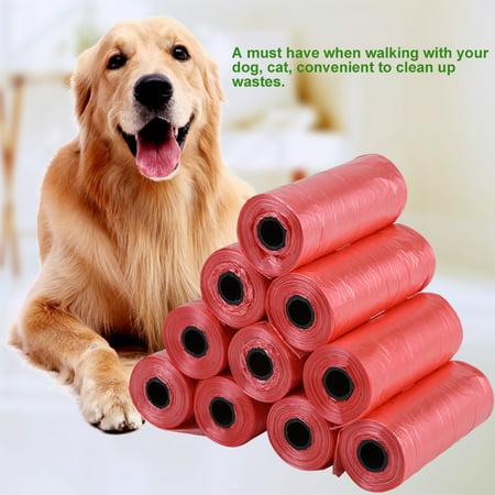 WALFRONT 10 Rolls/150Pcs Plastic Pet Dog Waste Bags 33 * 22cm Durable Trash Cleaning Bag,Waste Bag, Plastic Trash Bag - image 6 of 6