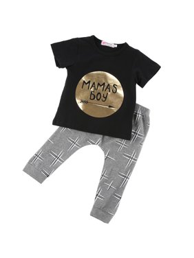 8fab4700 Product Image Newborn Baby Boys Cotton Outfits Set Jumper Shirt Tops + Pants  2pcs Clothes Clothing