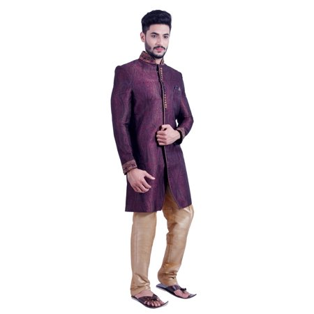 Multi Colored Indian Festivels Indo-Western Sherwani for Men. This product is custom made to order. - image 5 of 6