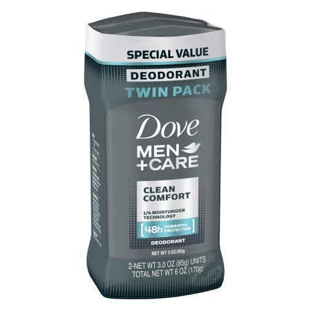 Dove Men+Care Clean Comfort Deodorant Stick, 3.0 oz, Twin