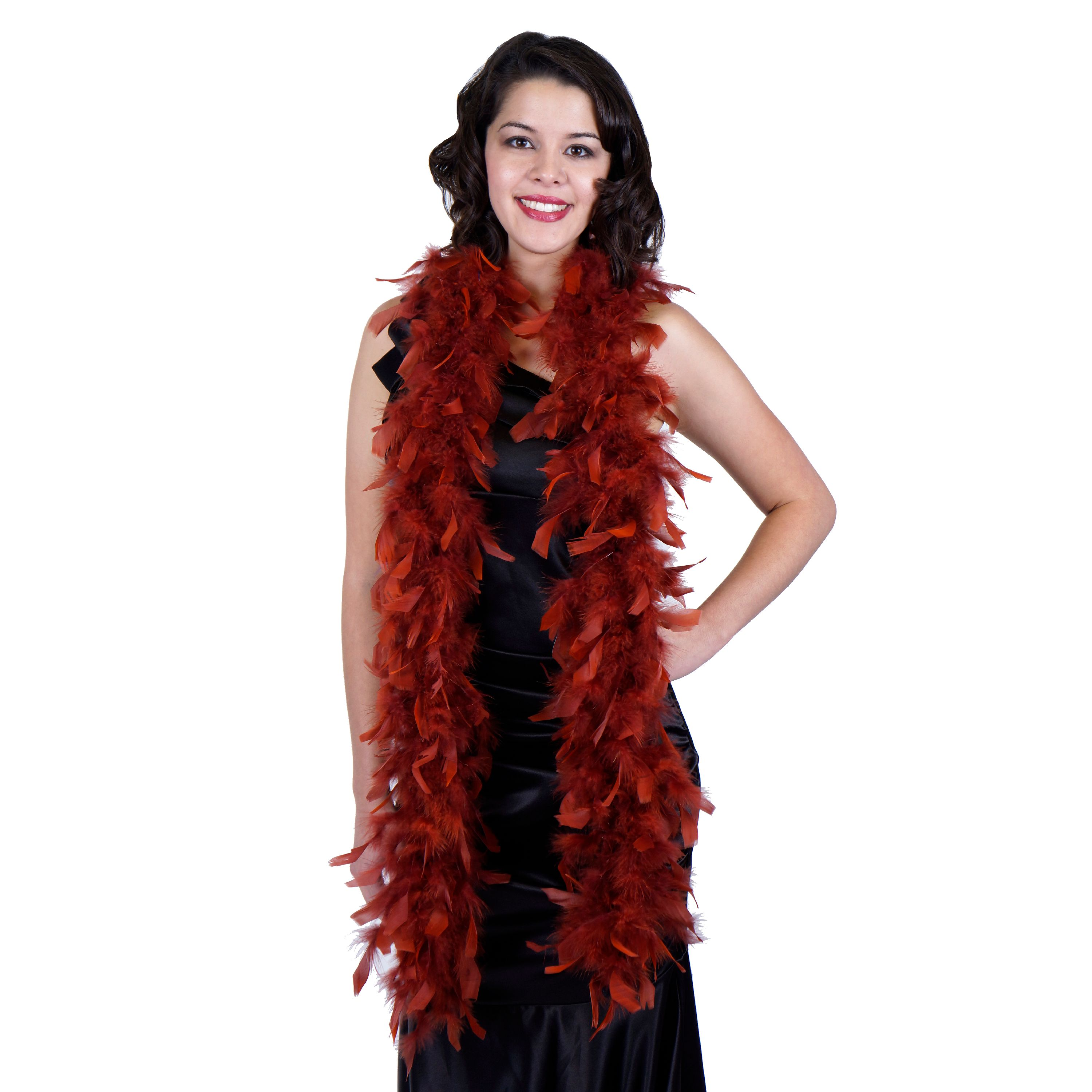 Zucker Feather Products Light Weight Chandelle Feather Boas - Copper