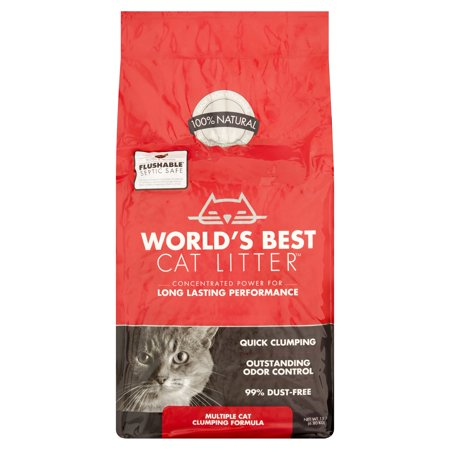 World's Best Cat Litter Multiple Cat Clumping Formula, 15 lb