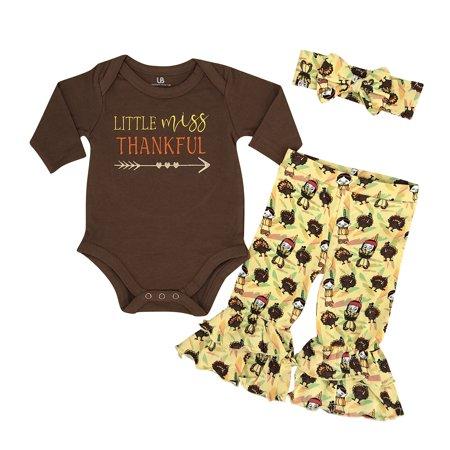 20528d02933b3 Girls Little Miss Thankful 1st Thanksgiving Outfit (18 Months ...