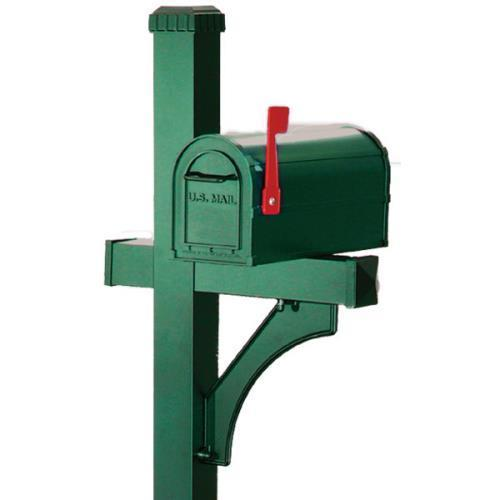 1-Sided Deluxe Post 1 Community Mailbox, Green