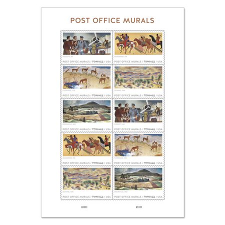 USPS Post Office Murals - 10 First-Class Forever Stamps