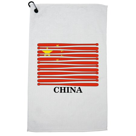 China Baseball Classic - World Vintage Bats Flag Golf Towel with Carabiner Clip