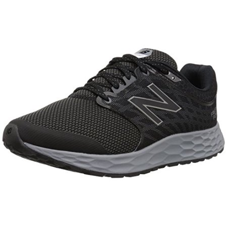 new balance men's 1165v1 fresh foam walking shoe, black/silver