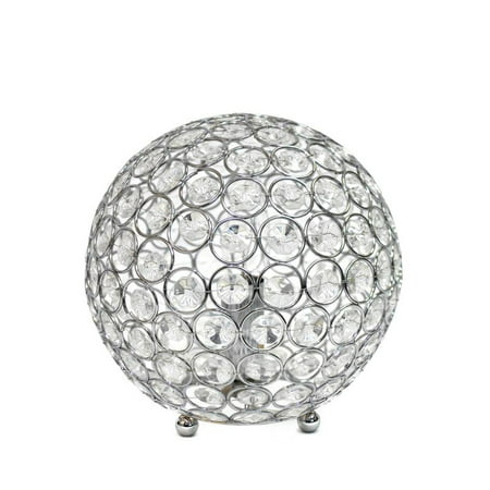 Stacked Crystal Table Lamp - Elegant Designs Crystal Ball Sequin Table Lamp Chrome