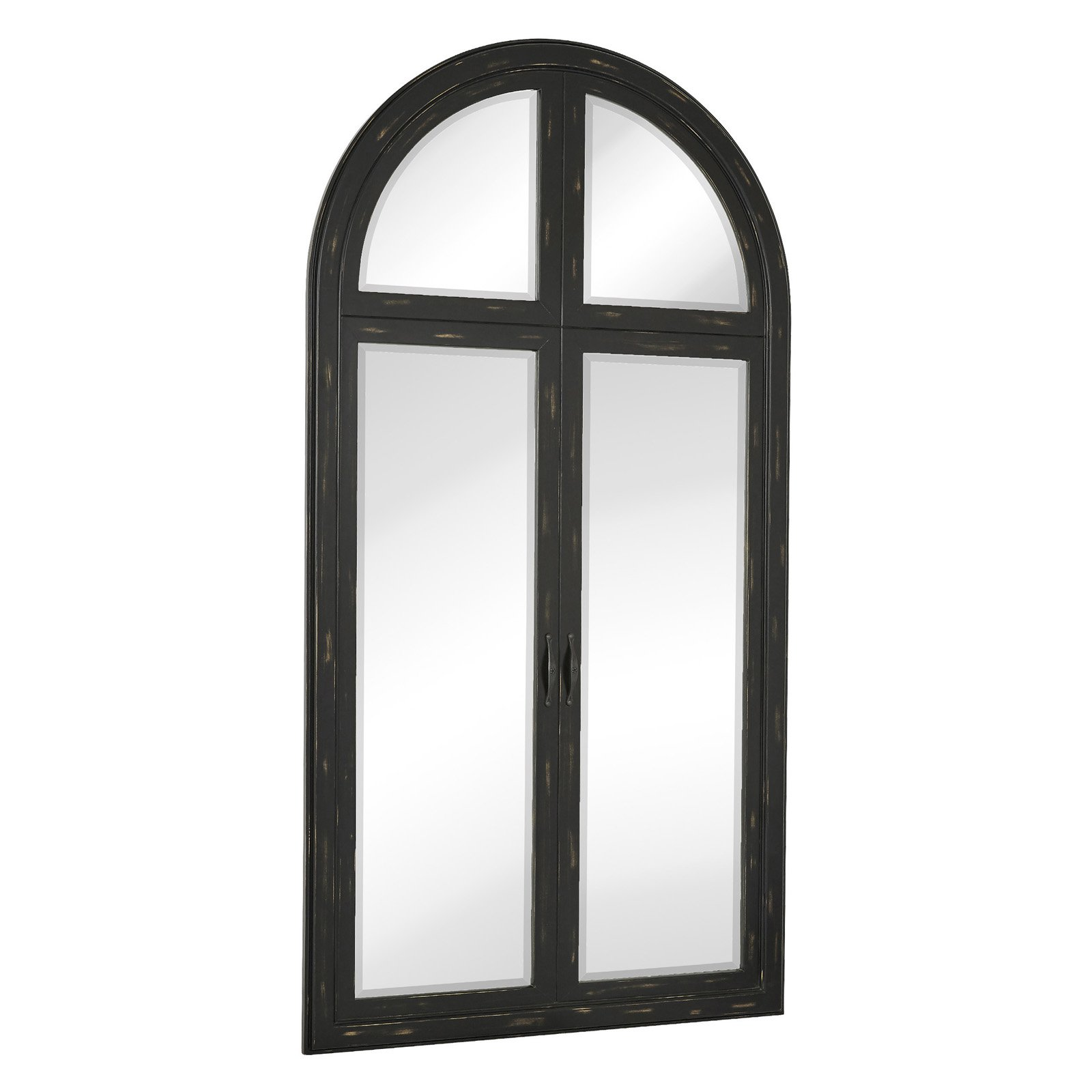 majestic beveled glass full length arched window pane wall mirror